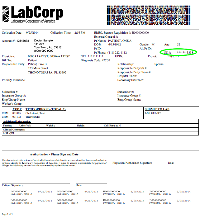 labcorp order form